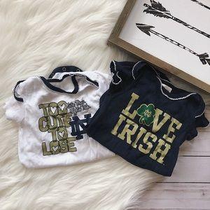 Other - (bundle)Notre Dame Irish Onesies ☘️